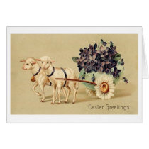 Easter Greetings! Victorian Easter Greeting Card