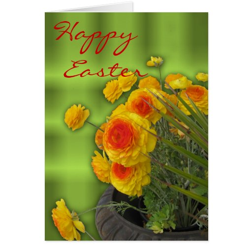 Easter greetings with anemones Card