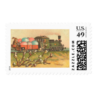 Easter Greetings With Egg Train Postage