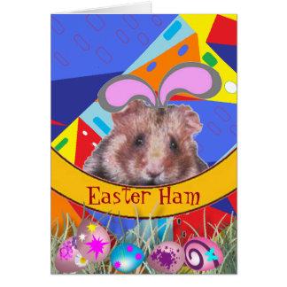 Easter Hamster Greeting Card