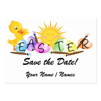 """Easter """"Hand Out"""" Invitations by SRF Business Card Template"""