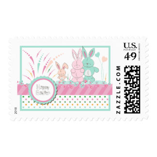 """Easter - """"Happy Bunny Family"""" Postage"""
