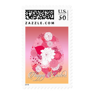 "Easter - ""Happy Easter"" Floral Egg Postage"