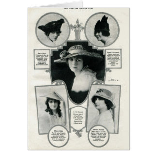 Easter hats vintage 1916 image 5 actresses card