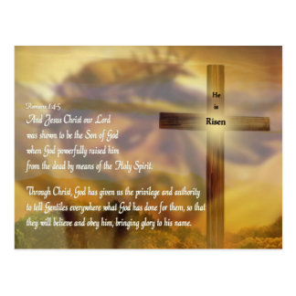 Easter - He is Risen - Religious Postcard