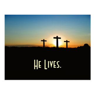 Easter He Lives Quote Postcard