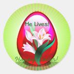 Easter He Lives Sticker
