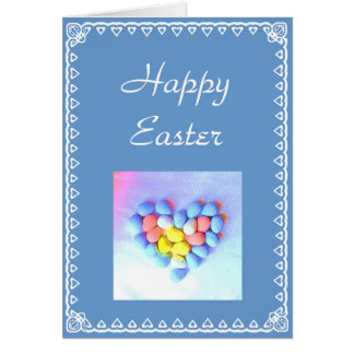 Easter heart and eggs card