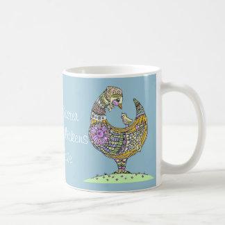 Easter hen and chick mug. classic white coffee mug