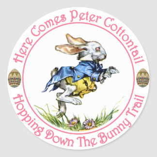 Easter - Here Comes Peter Cottontail Classic Round Sticker