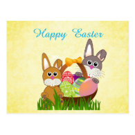 Easter Holiday Postcard for Kids