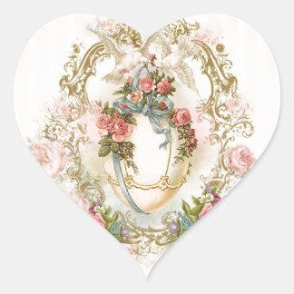 easter, holidays, egg, flowers, rose, romantic, heart sticker