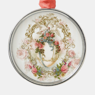 easter, holidays, egg, flowers, rose, romantic, metal ornament