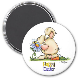 Easter Honey Bunny 3 Inch Round Magnet