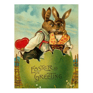 Easter Honey Bunny Postcard