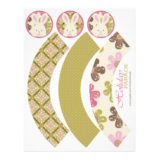 Easter Hunt Cupcake Wrappers Full Color Flyer