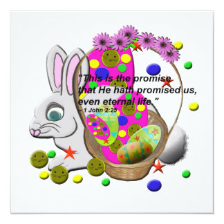 Easter Invitation Cards with Bible Quote