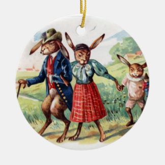 EASTER IS A FAMILY AFFAIR ! CERAMIC ORNAMENT