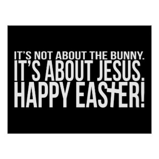 Easter is About Jesus Poster