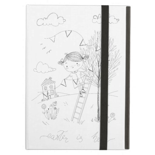Easter Is Here Ink Drawing Case For iPad Air