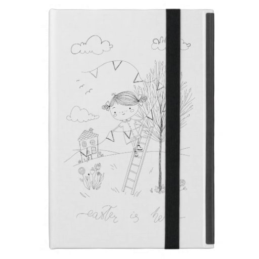Easter Is Here Ink Drawing Case For iPad Mini