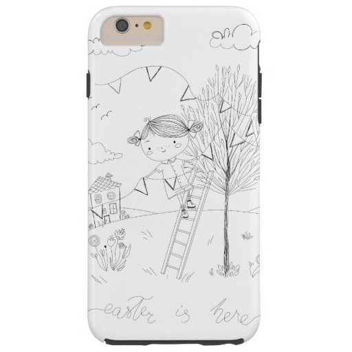 Easter Is Here Ink Drawing Tough iPhone 6 Plus Case