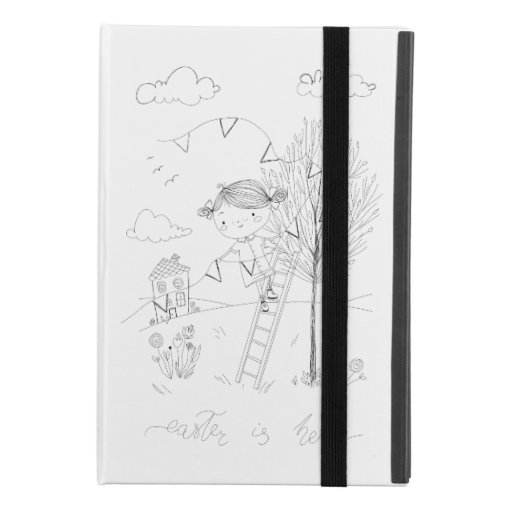 Easter Is Here Ink Drawing iPad Mini 4 Case