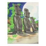 Easter Island 6.5x8.75 Paper Invitation Card