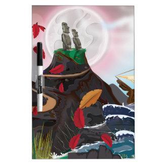 Easter Island Adventure Dry-Erase Board