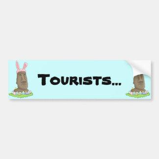 Easter Island Bunny Parody Bumper Sticker