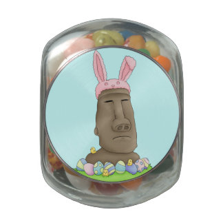Easter Island Bunny Parody Jelly Belly Candy Jars