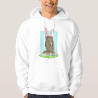 Easter Island Bunny Parody Hoodie