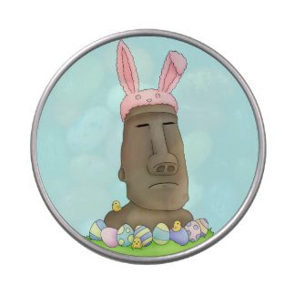 Easter Island Bunny Parody Jelly Belly Candy Tin