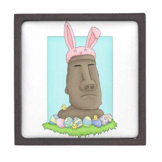 Easter Island Bunny Parody Premium Trinket Boxes