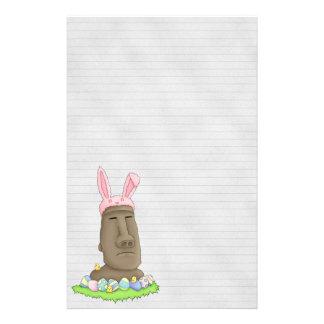 Easter Island Bunny Parody Stationery