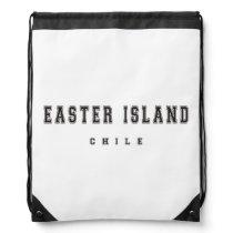Easter Island Chile Drawstring Bag