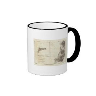 Easter Island Chile Ringer Coffee Mug