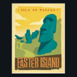 "Easter Island, Chile Postcard<br><div class=""desc"">Anderson Design Group is an award-winning illustration and design firm in Nashville,  Tennessee. Founder Joel Anderson directs a team of talented artists to create original poster art that looks like classic vintage advertising prints from the 1920s to the 1960s.</div>"