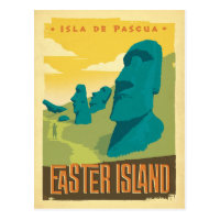 Easter Island, Chile Postcard