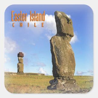 Easter Island Chile Square Sticker