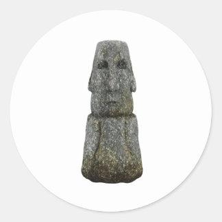 Easter Island Head Classic Round Sticker