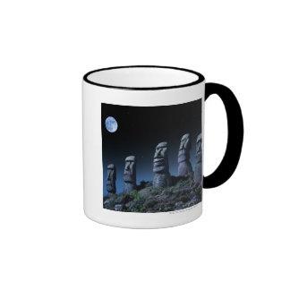 Easter Island Heads Ringer Mug