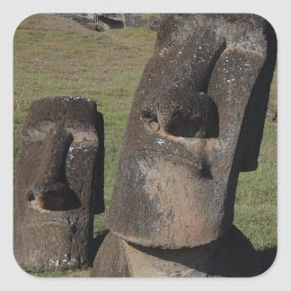 Easter Island Heads Square Sticker
