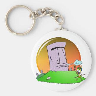 Easter Island Humor Key Chains