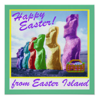 Easter Island Large Poster