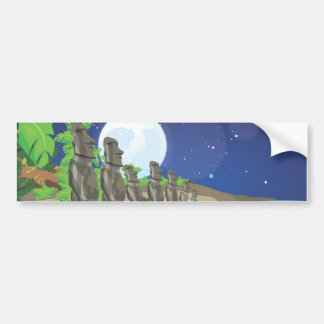 Easter Island Moai Bumper Sticker