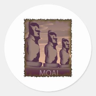 Easter Island Moai Classic Round Sticker