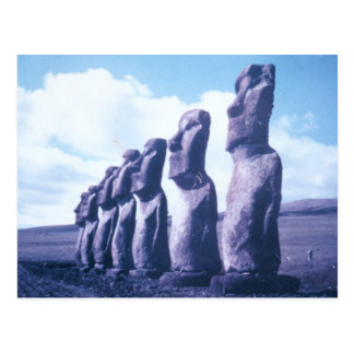 Easter Island Moai Heads Postcard