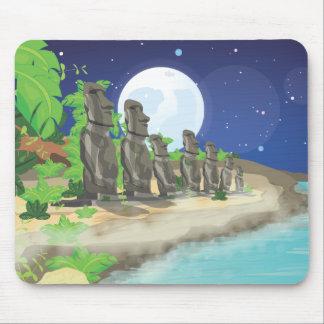 Easter Island Moai Mouse Pad