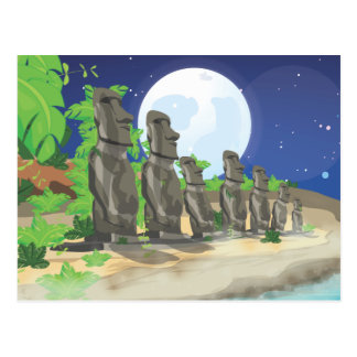 Easter Island Moai Postcard
